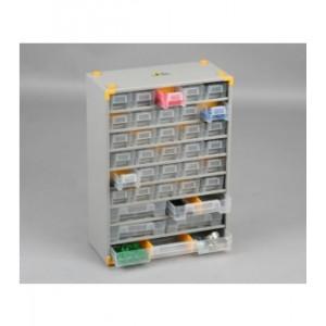 Regalik szuflad.-metalowy 48 szufladek
