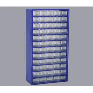 Regalik szuflad.-metalowy 60 szufladek